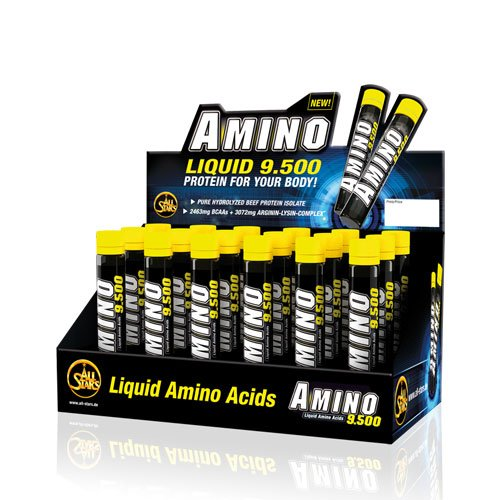 all stars amino liquid 9500 18 x 25ml ampullen schwarze. Black Bedroom Furniture Sets. Home Design Ideas