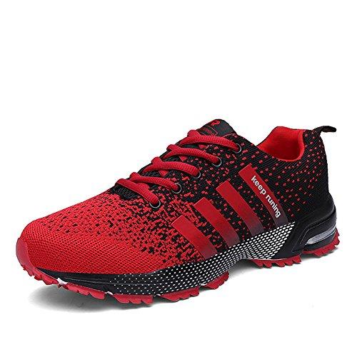 Laufschuhe Retwin Turnschuhe Straßenlaufschuhe Sneaker mit Snake Optik Damen Herren Sportschuhe Grün 40 Us38lg