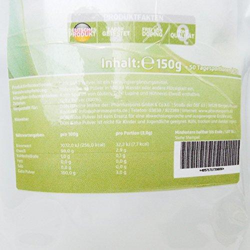 gaba 150g 100 ohne zus tze 50 portionen reine gamma amino butters ure pulver. Black Bedroom Furniture Sets. Home Design Ideas