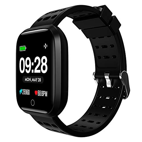 kungix smartwatch fitness armband trackers wasserdicht uhr mit pulsmesser smart watch. Black Bedroom Furniture Sets. Home Design Ideas